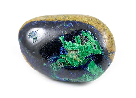 Galet Azurite-Malachite ref: azm37