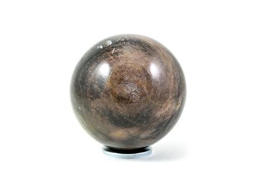 Sphère Pierre de lune noire 55mm