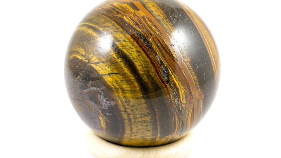 Sphère Oeil de tigre 76mm