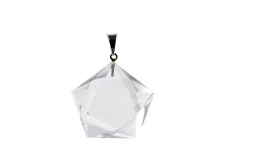 Pendentif Pentagramme Cristal de roche