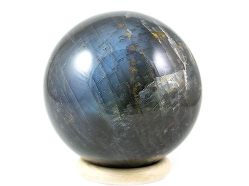 Sphère Pierre de lune noire 90mm