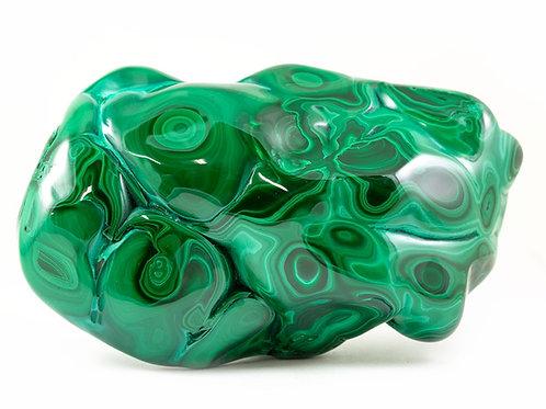 Malachite pierre polie