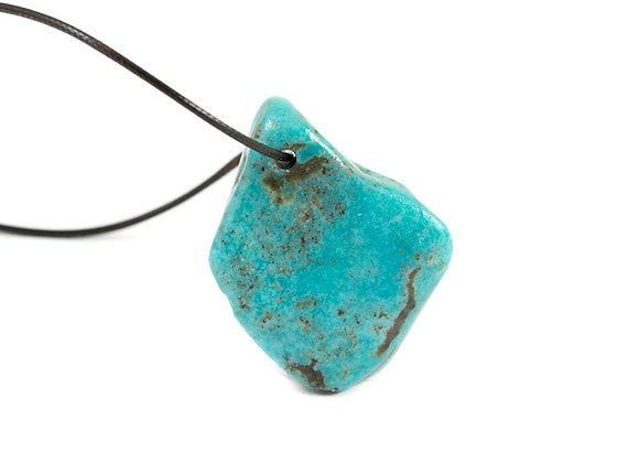 Turquoise pendentif pierre percée