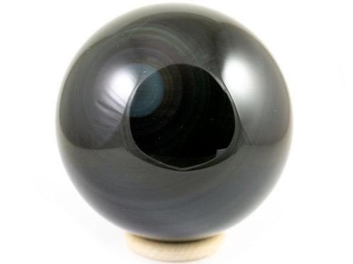 Obsidienne oeil céleste sphère 97mm