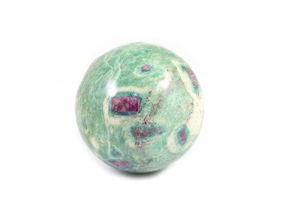 Sphère Rubis fuschite 45mm