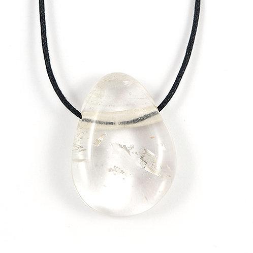 Pendentif pierre percée Cristal de roche