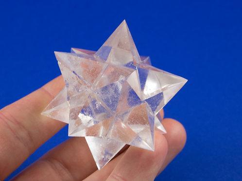 Dodécaèdre Étoilé cristal de roche ref: DE2