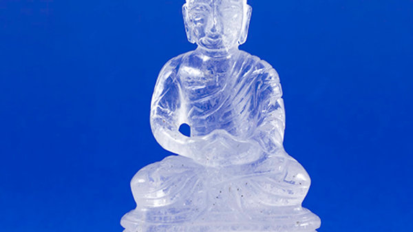 Bouddha Cristal de roche ref: BCR3