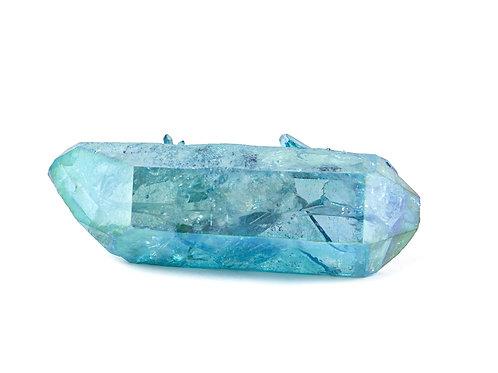 Cristal Aqua aura biterminé ref: aqua15