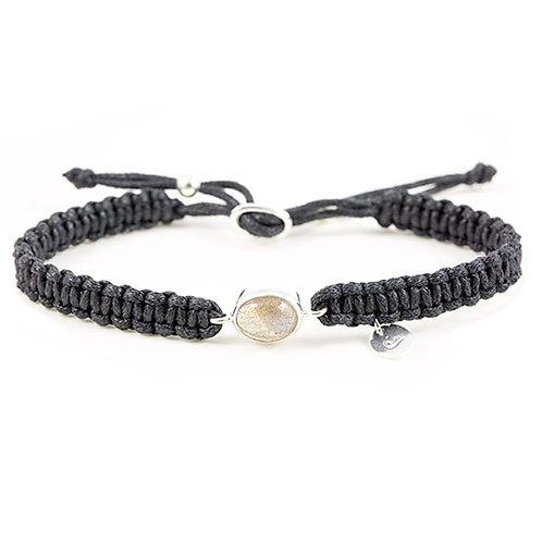 Bracelet Macramé et Labradorite