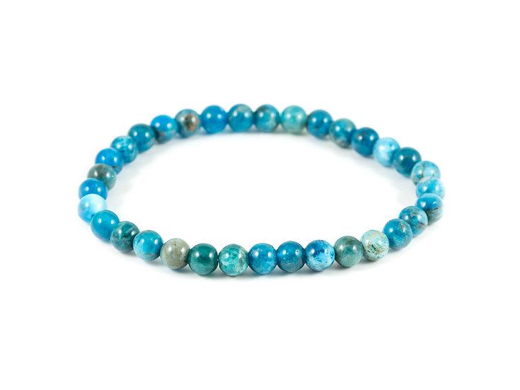 Bracelet Apatite bleue 6mm