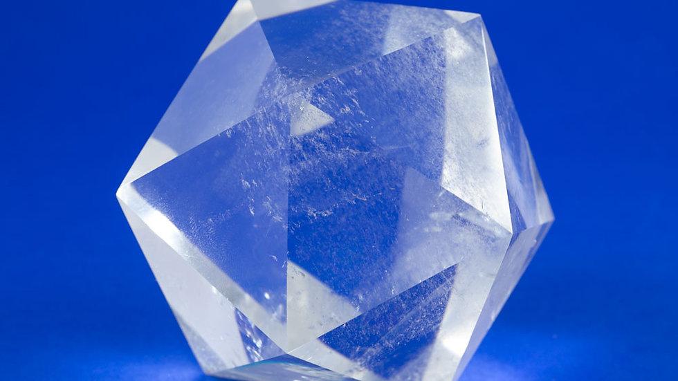 Icosaèdre Cristal de roche ref: Ico4