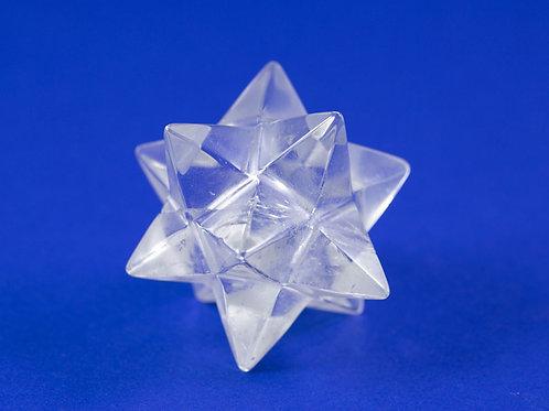 Dodécaèdre Étoilé cristal de roche ref: DE4