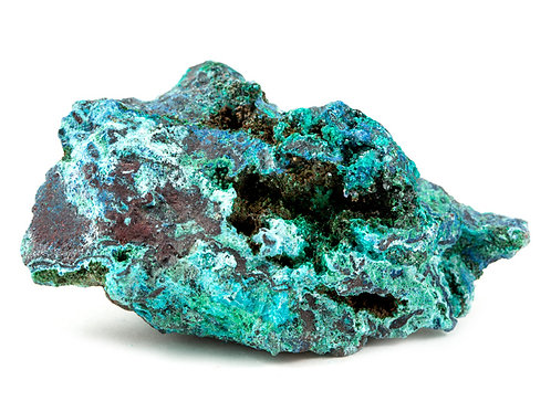 Dioptase et chrysocolle brute