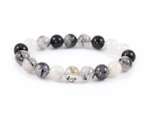 Bracelet Quartz Tourmaline 10mm