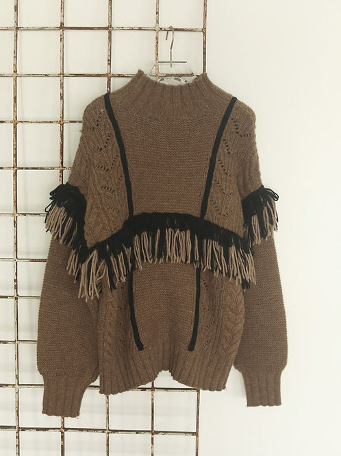 TODAYFUL / Fringe Turtle Knit