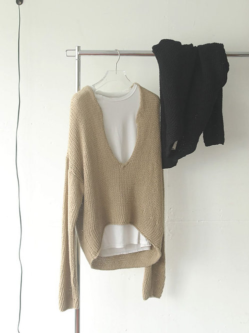 TODAYFUL / Uneck Hand Knit