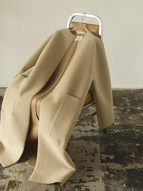 TODAYFUL / Collarless Boa Coat