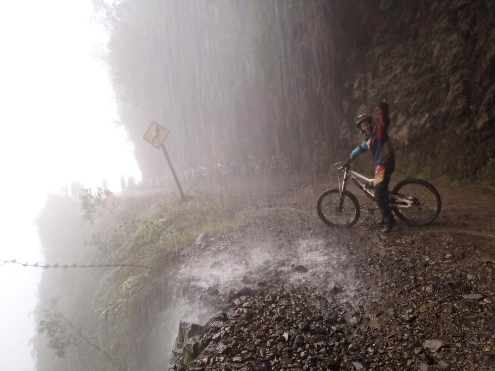 ciclista cachoeira