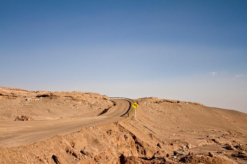 estrada deserto