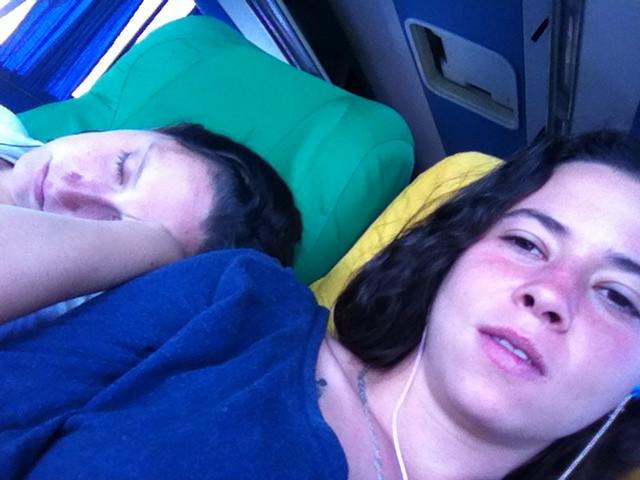 dormindo onibus