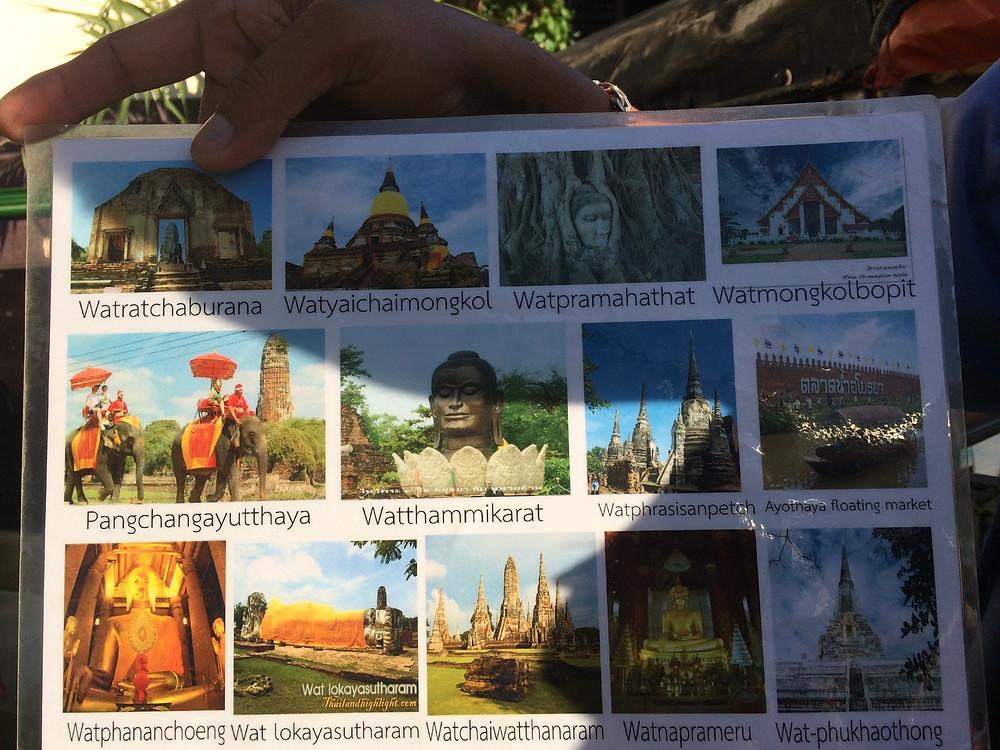 panfleto templos AYUTTHAYA