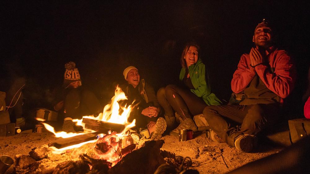 camping fogueira