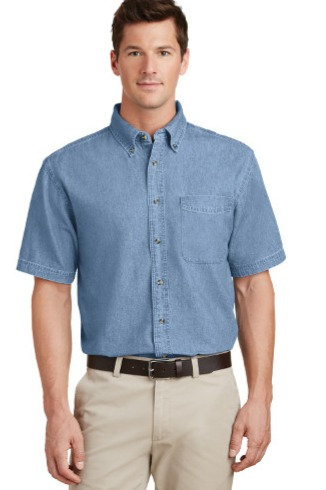 SP11  Port & Company® - Short Sleeve Value Denim Shirt