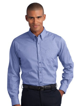 RH66  Red House® - Mini-Check Non-Iron Button-Down Shirt
