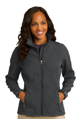 EB533 Eddie Bauer® Ladies Shaded Crosshatch Soft Shell Jacket