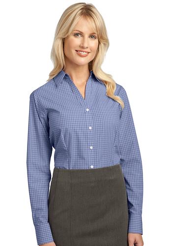 L639 Port Authority® Ladies Plaid Pattern Easy Care Shirt