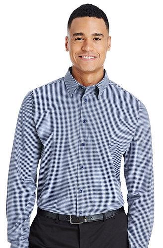 DG535 Devon & Jones CrownLux Performance™ Men's Tonal Mini Check Shirt
