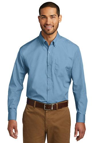 W100 Port Authority® Long Sleeve Carefree Poplin Shirt