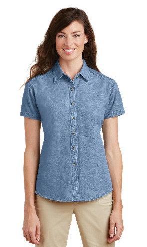LSP11 Port & Company® - Ladies Short Sleeve Value Denim Shirt