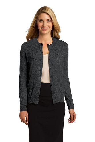 LSW287 Port Authority® Ladies Cardigan Sweater