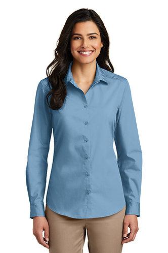 LW100 Port Authority® Ladies Long Sleeve Carefree Poplin Shirt