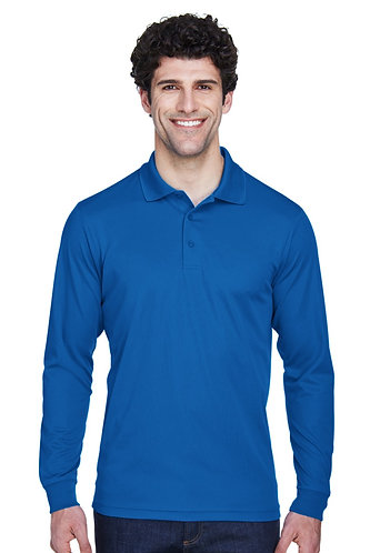 88192Prime Plus Core 365 Men's Pinnacle Performance Long-Sleeve Piqué Polo