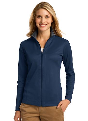 L805 Port Authority® Ladies Vertical Texture Full-Zip Jacket