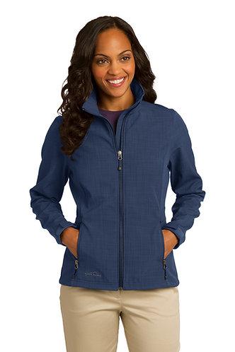 EB533 Eddie Bauer® Ladies Shaded Crosshatch Soft Shell Jacket