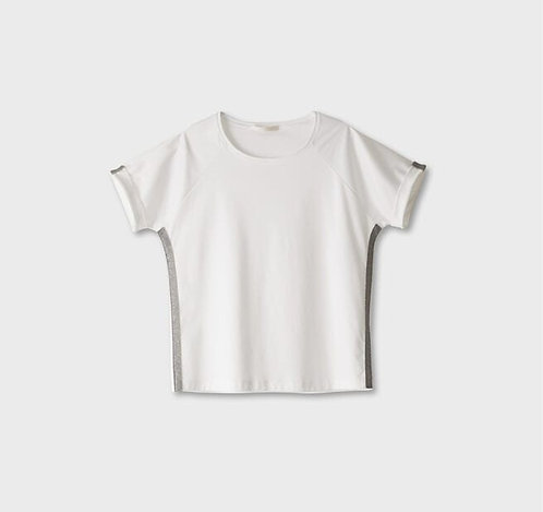T-Shirt Biancalancia con applicazioni