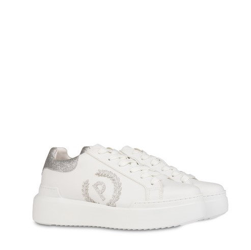 SNEAKERS CARRIE GLITTER ARGENTO - POLLINI