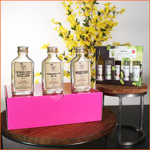The Monin Cocktail Syrup Gift Set Box