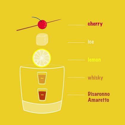 Amaretto Whiskey Sour- Serves 4