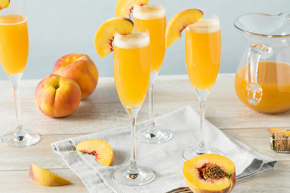 Peaches & Cream Bubble Bellini