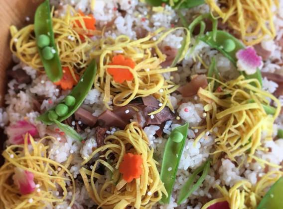 vegan chirashi sushi