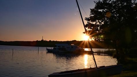 Großer Lychensee Sonnenuntergang