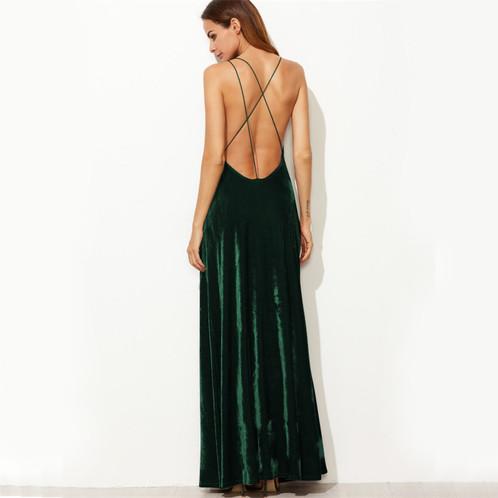 Backless Green Dress