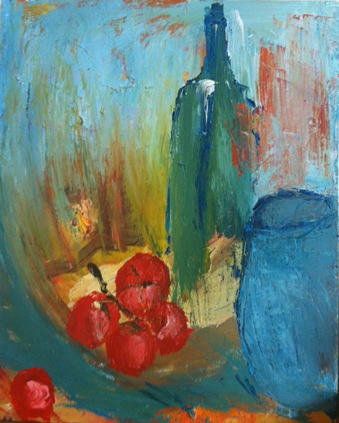 Still Life with a Blue Vase, 2013