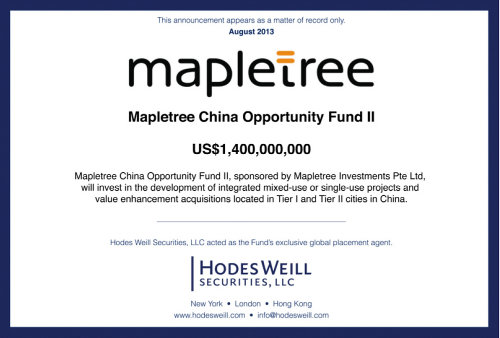 Maple tree China Opportunity Fund II
