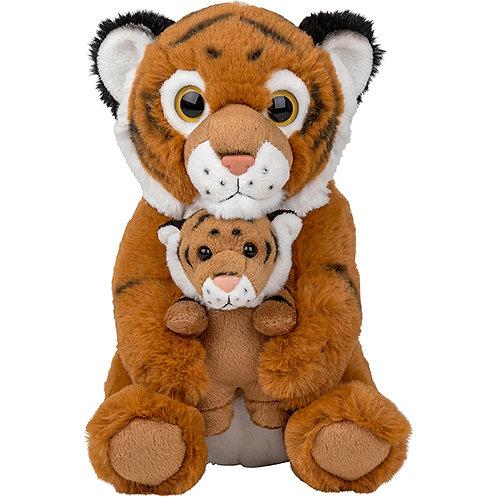 Peluche tigre avec son bébé